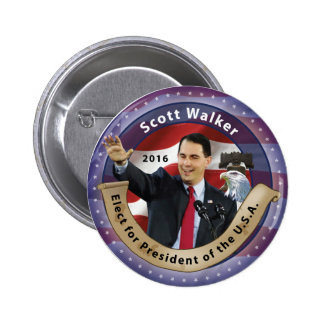 Scott Walker for President of the U.S.A. - 2016 6 Cm Round Badge