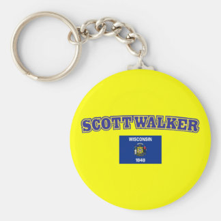 Scott Walker for Wisconsin Basic Round Button Key Ring