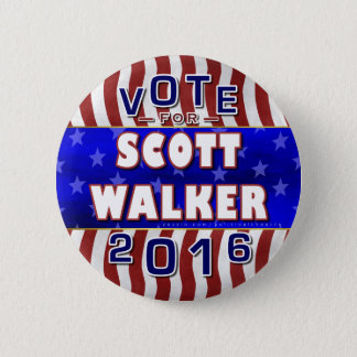 Scott Walker President 2016 Election Republican 6 Cm Round Badge