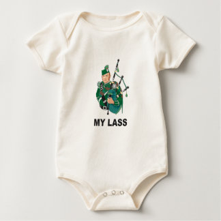 scott with bagpipe baby bodysuit