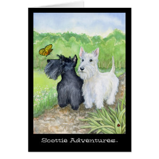 Scottie Adventures greeting card