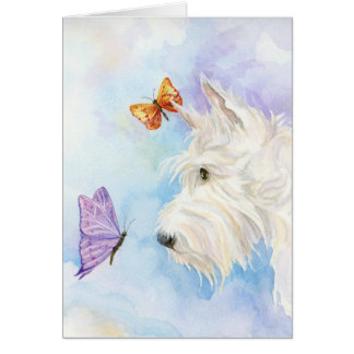 Scottie and Butterflies greeting cards