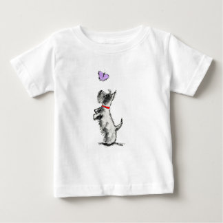 SCOTTIE AND BUTTERFLY BABY T-Shirt