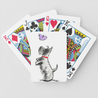 SCOTTIE AND BUTTERFLY BICYCLE PLAYING CARDS