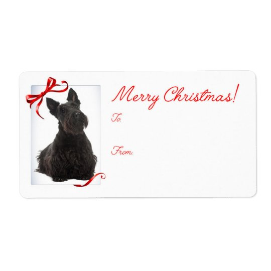 Scottie Christmas Gift Stickers