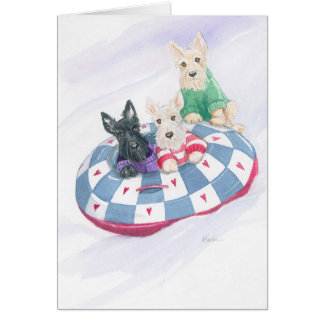 Scottie Christmas Trio Card