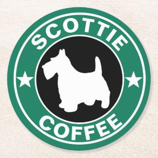 SCOTTIE Coffee Round Paper Coaster