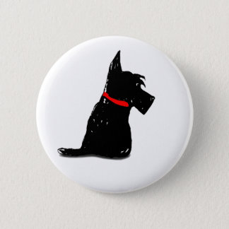 Scottie Dog 6 Cm Round Badge