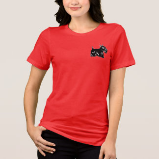 Scottie Dog Accent Women's Relaxed Jersey T-Shirt