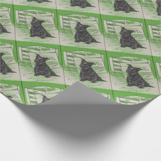 Scottie dog by special delivery wrapping paper