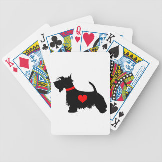Scottie dog heart playing cards