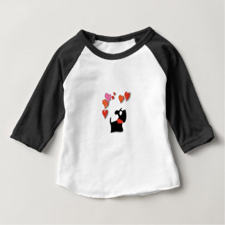 Scottie Dog Love Hearts Baby T-Shirt