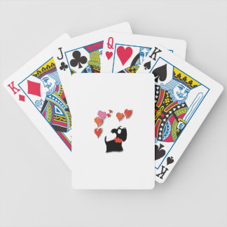 Scottie Dog Love Hearts Bicycle Playing Cards