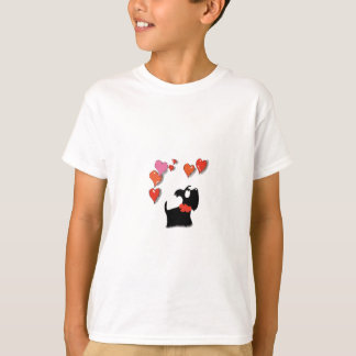 Scottie Dog Love Hearts T-Shirt