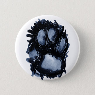 Scottie Dog Paw 6 Cm Round Badge