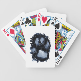 Scottie Dog Paw Bicycle Playing Cards