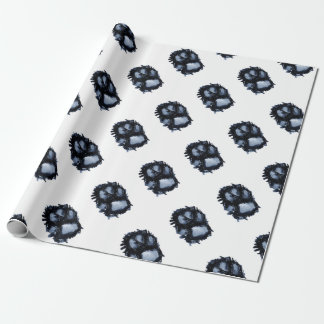 Scottie Dog Paw Wrapping Paper