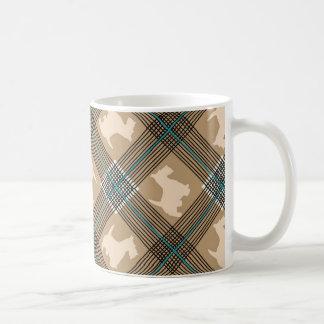 Scottie Dog Plaid Tartan Coffee Mugs