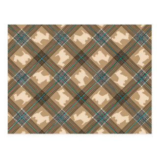 Scottie Dog Plaid Tartan Post Card