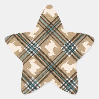 Scottie Dog Plaid Tartan Sticker