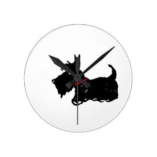 Scottie Dog Round Clock