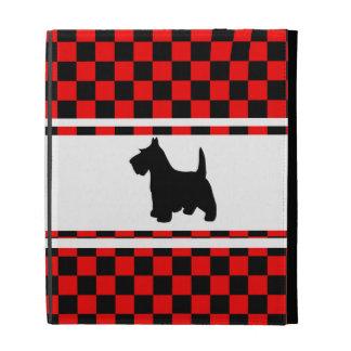 Scottie Dog Scottish Terrier Checkerboard iPad Folio Cover
