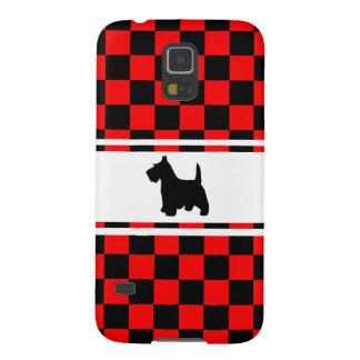 Scottie Dog Scottish Terrier Checkerboard Galaxy S5 Case