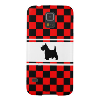 Scottie Dog Scottish Terrier Checkerboard Galaxy S5 Covers