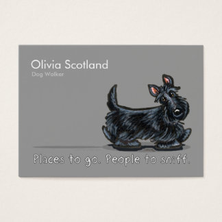 Scottie Dog Walking Pet Business Cards