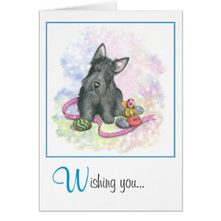 Scottie Easter card