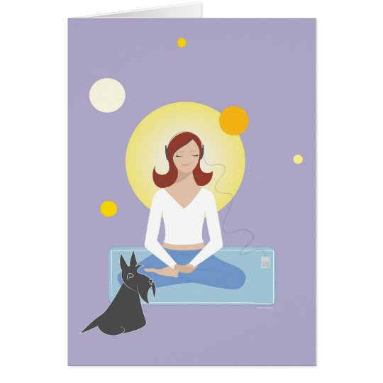 Scottie Gal Meditating - Greeting Card