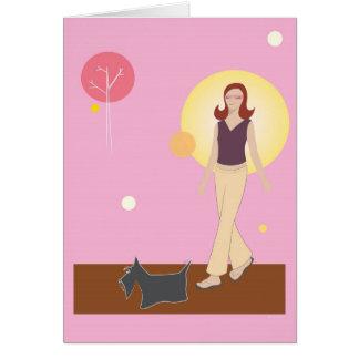 Scottie Gal Walking - Greeting Card