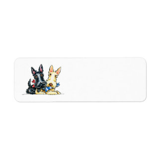 Scottie Gingham Cuties Return Address Label