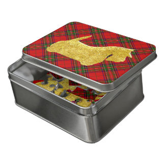 Scottie Gold With Tartan Jigsaw Puzzle