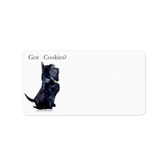 Scottie - Got Cookies Address Label