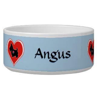 Scottie Heart Personalised Dog Bowl
