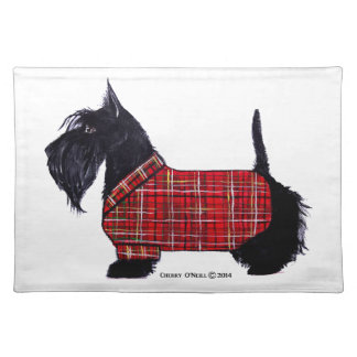 Scottie Holiday Jacket Placemat