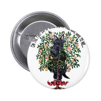 Scottie in a Pear Tree Buttons