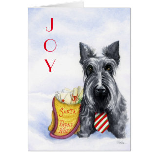 Scottie letters to Santa Card