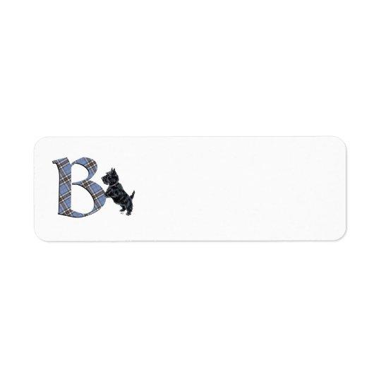 SCOTTIE Monogram B Address Labels