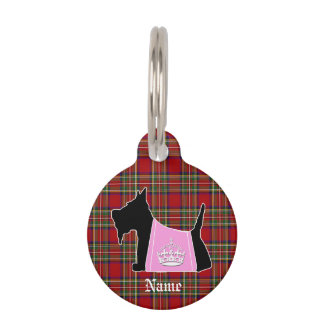 Scottie No. 15 Royal Crown Pet Name Tag
