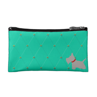 Scottie No 8 Gray Tiffany Bllue Diamons Makeup Bag
