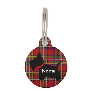Scottie No 8 Pet Name Tag