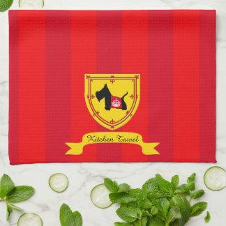 Scottie No 8 Royal Crown Tea Towel