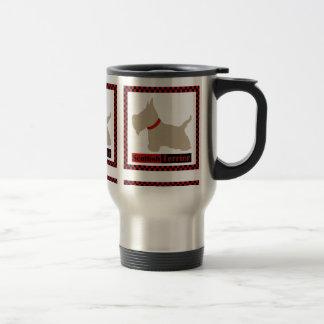 Scottie No 8 Wheaten Checkers Travel Mug