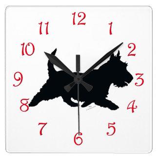 Scottie on the Go Square Wall Clock