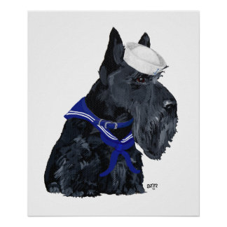 Scottie Sailor Poster