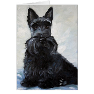 Scottie Scottish Terrier - Blue Boy Card