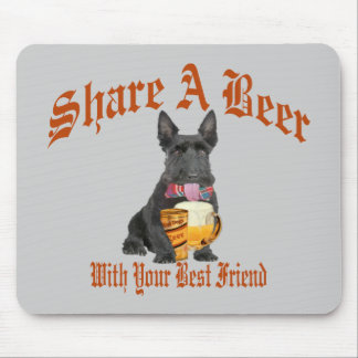 Scottie Shares A Beer Mouse Pad