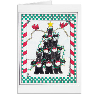 SCOTTIE TREE CARD
